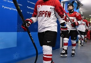 GANGNEUNG, SOUTH KOREA - FEBRUARY 14: Japan's Shiori Koike #2 takes to the ice for warmup during preliminary round action at the PyeongChang 2018 Olympic Winter Games. (Photo by Matt Zambonin/HHOF-IIHF Images)