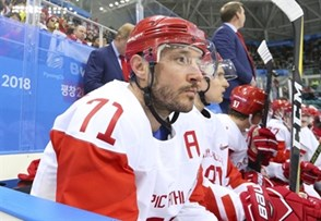 GANGNEUNG, SOUTH KOREA - FEBRUARY 14: Ilya Kovalchuk #71 of the Olympic Athletes of Russia looks on from the bench during preliminary round action against Slovakia at the PyeongChang 2018 Olympic Winter Games. (Photo by Andre Ringuette/HHOF-IIHF Images)