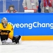 GANGNEUNG, SOUTH KOREA - FEBRUARY 16: Germany's Dennis Endras #44 warms up before taking on Team Sweden during preliminary round action at the PyeongChang 2018 Olympic Winter Games. (Photo by Matt Zambonin/HHOF-IIHF Images)