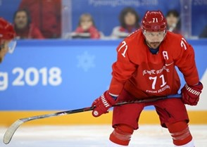 GANGNEUNG, SOUTH KOREA - FEBRUARY 17: Ilya Kovalchuk #71 of the Olympic Athletes of Russia looks on during preliminary round action against the U.S. at the PyeongChang 2018 Olympic Winter Games. (Photo by Andre Ringuette/HHOF-IIHF Images)