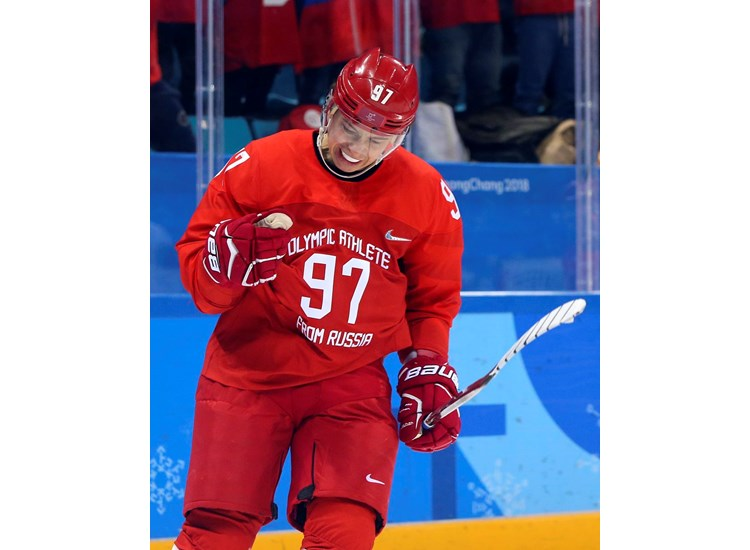 Znalezione obrazy dla zapytania pyeongchang 2018 ice hockey nikita gusev